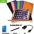 Pu estuche protector cáscara / piel caja de cuero protectora para Onda V975s latencia Tablet PC 9.7 '' caso