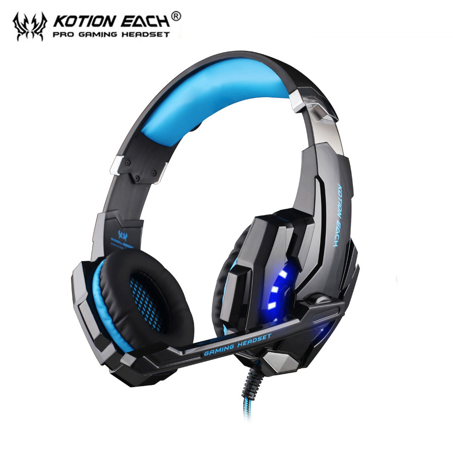 KOTION EACH G9000 pc gamer headphones gaming headset gamer auriculares fones de ouvido With Microphone LED Noise Canceling free shipping 10pcs sm3240f in stock