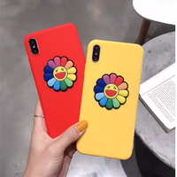 3D Candy Color Smile Flower Soft Case For Samsung S10 S9 S8 Plus S10 Lite S7 S6 Edge Note 9 8 M30 M20 A70 A50 A40 Case Cover