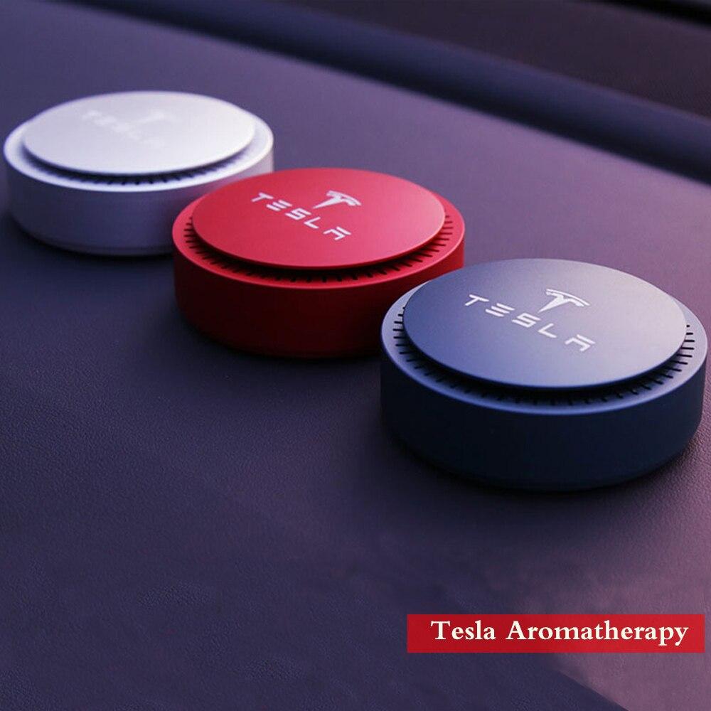 2019 New Car aromatherapy Car air freshener Air Purifier Aroma fashion style for Tesla Model 3 Tesla Model S Tesla Model X emblem