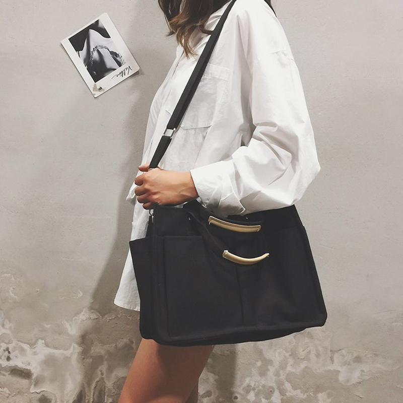 2019 New Canvas Bag Reusable Shopping Bags Grocery Tote Bag Cotton Daily Use Handbags Women Casual Handbag in Shopping Bags from Luggage Bags