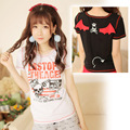 Dolly Delly Harajuku Punk Little Evil and Skull Printed Short-sleeved Cotton T-shirt for Girl