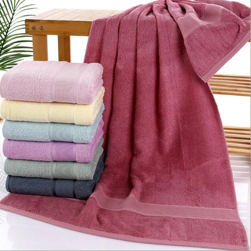 2018 New arrival smooth Anti-bacterial bamboo fiber bath towel drap de bain 70*140cm large men bathroom towels gift towel GY03