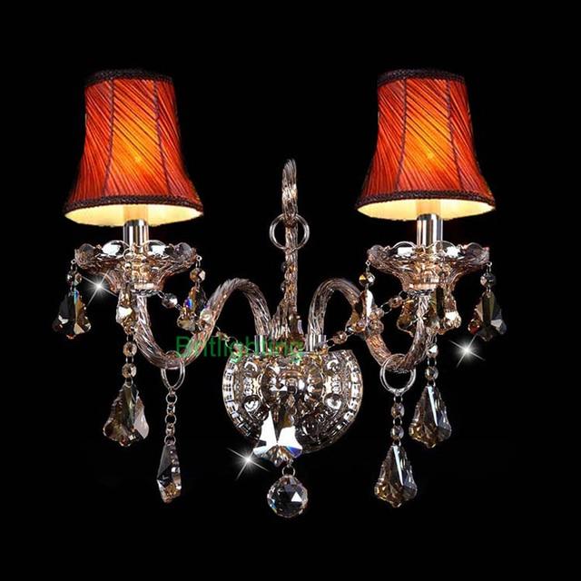 lampe elegantes und modernen mundgeblasenem murano glas wandleuchten mit stoff lampenschirm. Black Bedroom Furniture Sets. Home Design Ideas