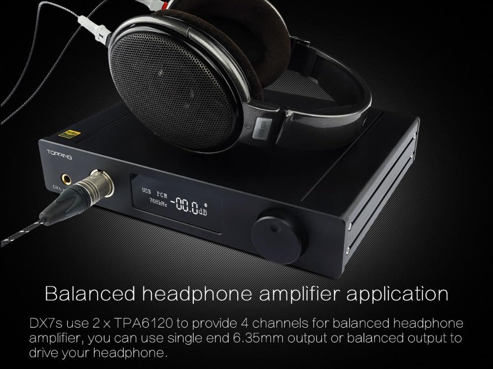 TOPPING DX7s 32Bit/768K DSD512 Full balanced USB DAC Amplifier-09