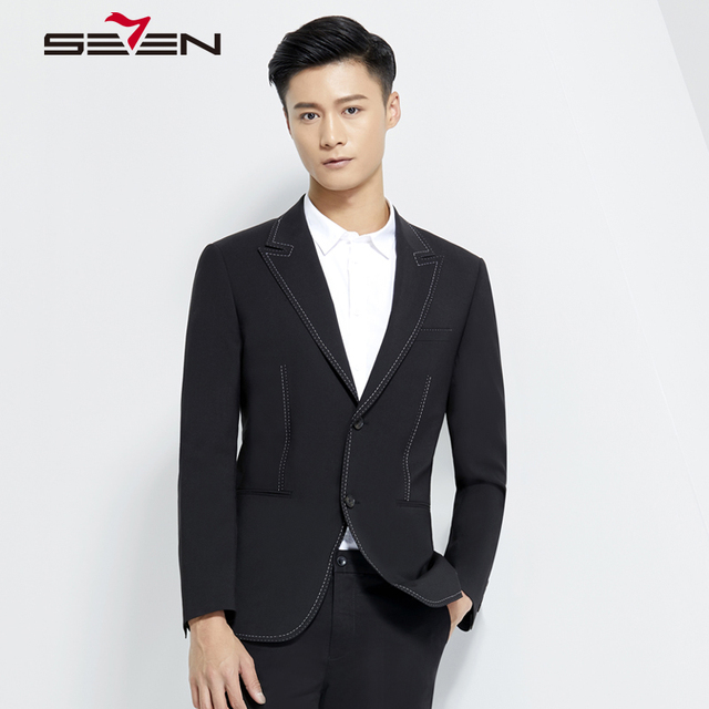 Seven7 Brand Fashion Men Blazer Suit Jacket Masculin Slim Fit  Male Casual Retro Style Business Party Stylish Clothing 114C18010