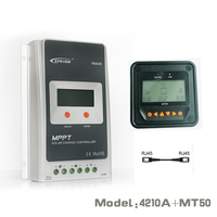Tracer 4210A EPsloar 40A MPPT Solar Charge Controller 12V 24V LCD Diaplay EPEVER Regulator With MT50