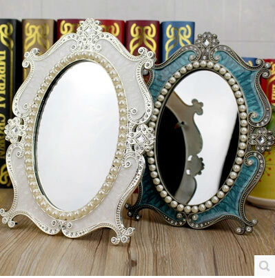 top quality luxury european style oval one sided vintage mirror