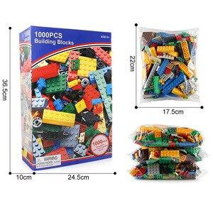 Image 3 - 1000 قطعة مكعبات بناء المدينة الإبداعية إصنعها بنفسك مجموعة مكعبات بناء الاصدقاء الاولاد الكلاسيكية لعبة تعليمية للاطفال