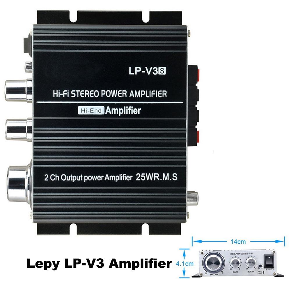 Объем Управление 12 В мини стерео Connection Digital MP3 3,5 мм аудио автомобиля Динамик ...