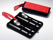 free shipping Knife fork spoon combination set fashion bag