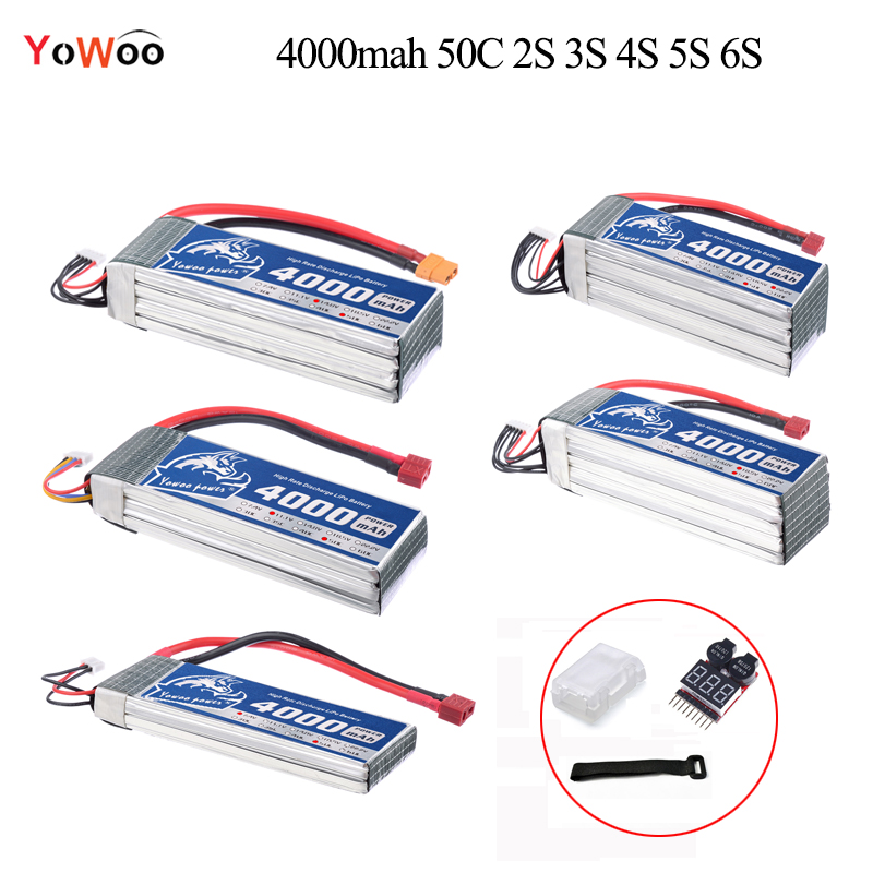 4000mAh Lipo 2S 3S 4S 5S 6S Battery 7.4V 11.1V 14.8V 18.5V 22.2V 50C max 100C Strap Lipo Battery For Helicopter RC Car Airplane 2018 new arrived lipo battery 2s 7 4v 1200mah 20c max 50c with tamiya connector akku for mini airsoft gun battery rc model