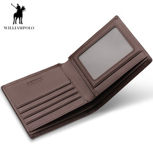 Short Wallets Black Brown Bifold Wallet Mens Brand Leather Card Holder Money Cash Wallet Purses