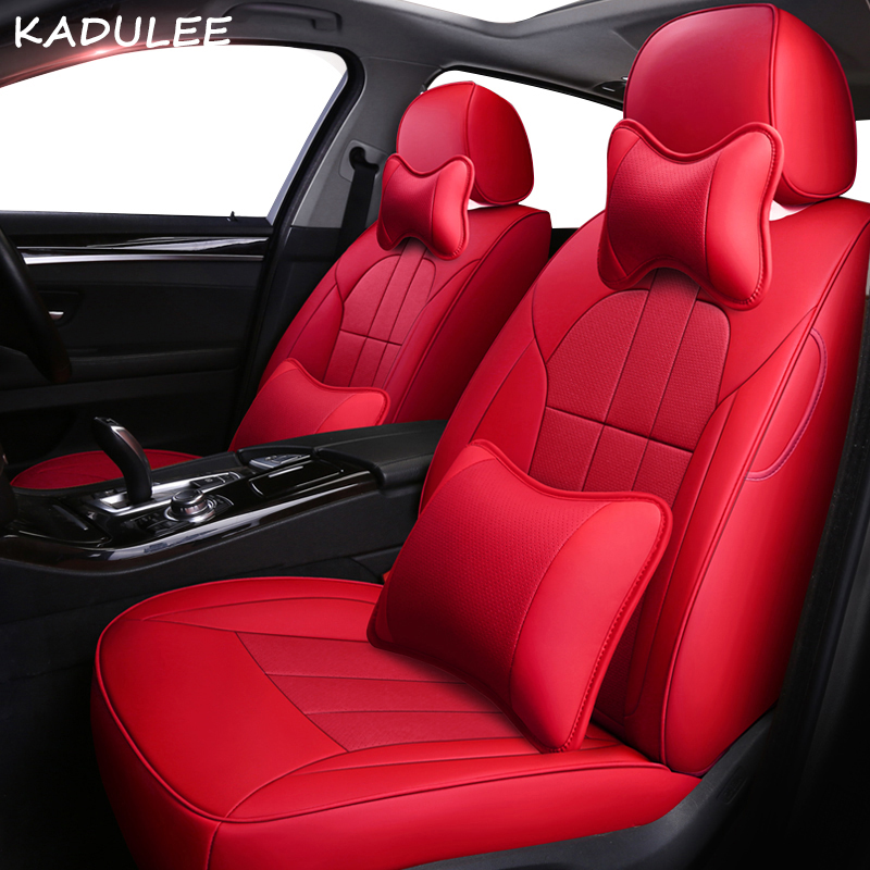KADULEE Leather Car Seat Cover For Acura MDX RDX RL TL ITX