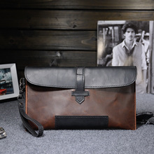 Mens Clutch Bag Office Bags for Men Portafolio Manager Conference Evening PU Leather Thin Messenger New