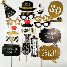 20 Pcs Set 30th 40th 50th 60th Birthday Protobooth DIY Party Decorations Adult Photo