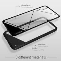 Caso Para o iphone X Tampa NILLKIN Vidro Temperado combinar PC nature TPU caixa do telefone para iPhoneX caso claro de luxo 5.8 polegadas