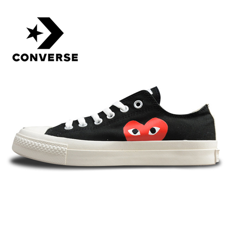 Converse CDG X Chuck Taylor 1970s HiOX 18SS Skateboarding Shoes Sport for Men and Women Unisex Classics Canvas Shoes 150210C converse all star cdg x chuck taylor 1970s hiox 18ss skateboarding white high top authentic for men and women casual shoes sport