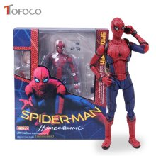 TOFOCO Spiderman Action Figure 15 cm Anime Spider-man do Regresso A Casa do Regresso A Casa Modelo Collectible Boneca de Brinquedo Em Caixa(China)