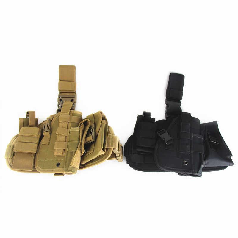 Militare del Piedino di Goccia Coscia Custodia Per Armi Tattica di Caccia Regolabile Softair Fondina Universale Coscia Fondina Pistola Con MOLLE Del Sacchetto