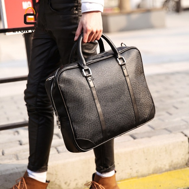 Leather Briefcase Computer Bag Casual Business Mens Messenger Vintage Men S Shoulder Luxury Handbags