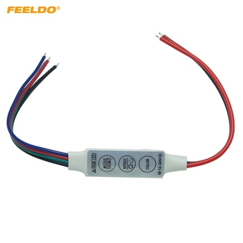 FEELDO 50Pcs DC5V~24V LED Flasher Module Flash Strobe Controller With 4-Wire Connecotr For LED Strip Light #AM3965