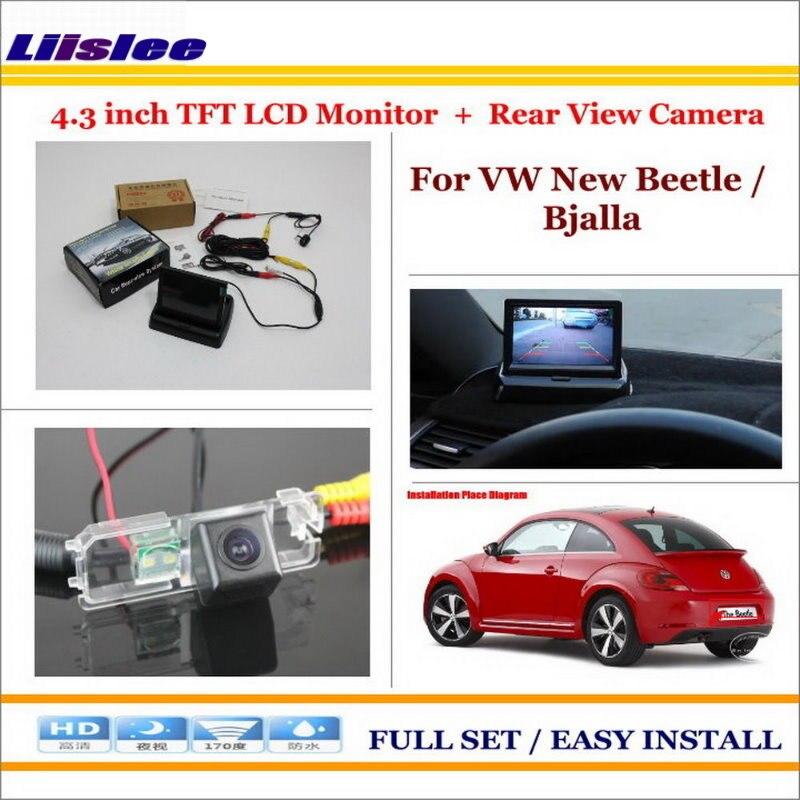 """Liislee para Volkswagen VW nuevo escarabajo/Bjalla-en coche 4,3 """"LCD Monitor + parte trasera del coche cámara = 2 en 1 Sistema de aparcamiento"""