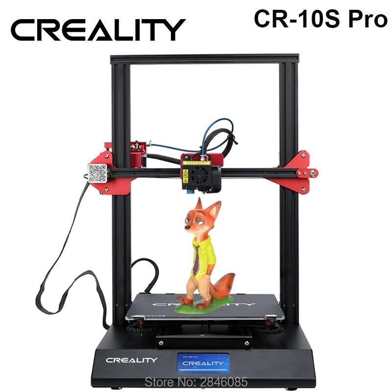 CREALITY 3D di Livellamento Automatico CR-10S Pro Stampante LCD Touch Doppio Estrusione Curriculum Stampa Filamento di Rilevamento Funtion