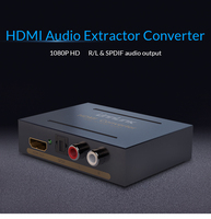 Unnlink HDMI Audio Extractor Converter HDMI To HDMI Optical Toslink RCA L R Adapter 1080P Stereo