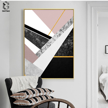 Nordic Marble Canvas Painting Wall Art Posters and Prints Classic Geometric Picture for Living Room Home Decor Artwork