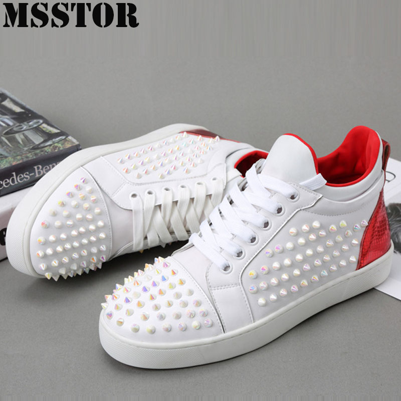 MSSTOR The New Listing Women Men Skateboarding Shoes Flat With White Canvas Woman Brand Walking Sport For Man Summer Sneakers