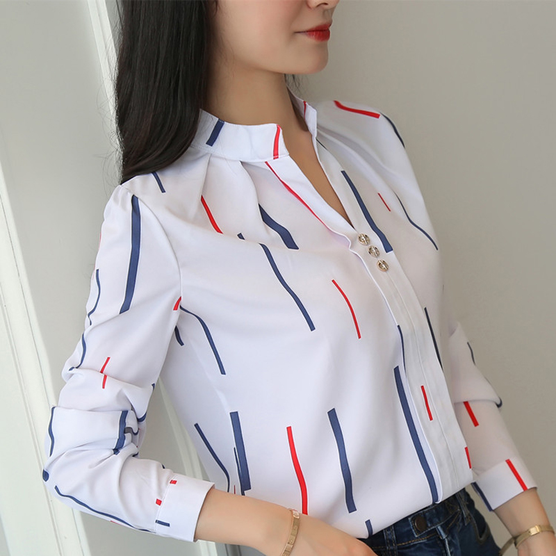 Women Tops And Blouses Office Lady Blouse Slim Shirts Women Blouses Plus Size Tops Casual Shirt Female Blusas 3