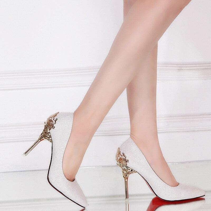 Chaussures Modèles Peu Nouvelles Talons Femmes argent Stiletto Mode Profonde Dames 2018 Hauts Noir Sexy D'explosion rouge Bouche De or 6zdwBqx