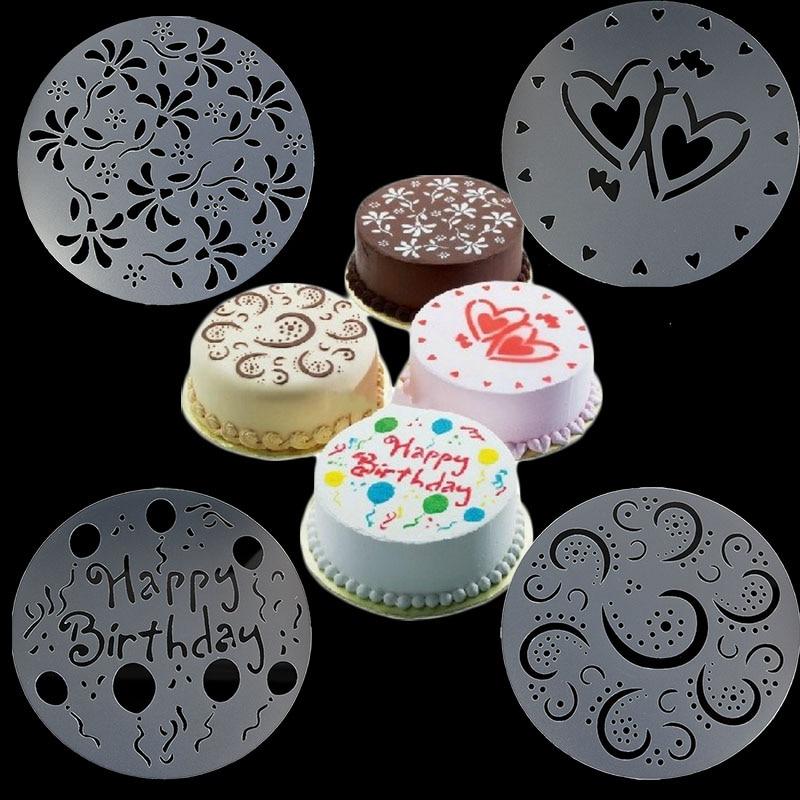 4pcs Cake Decorating Stencil Sugarcraft Baking Mold