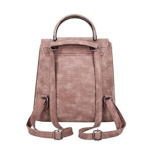 Image 2 - YBYT brand 2019 new PU leather women rucksack Multipurpose satchel female shopping shoulder bags ladies casual travel backpacks