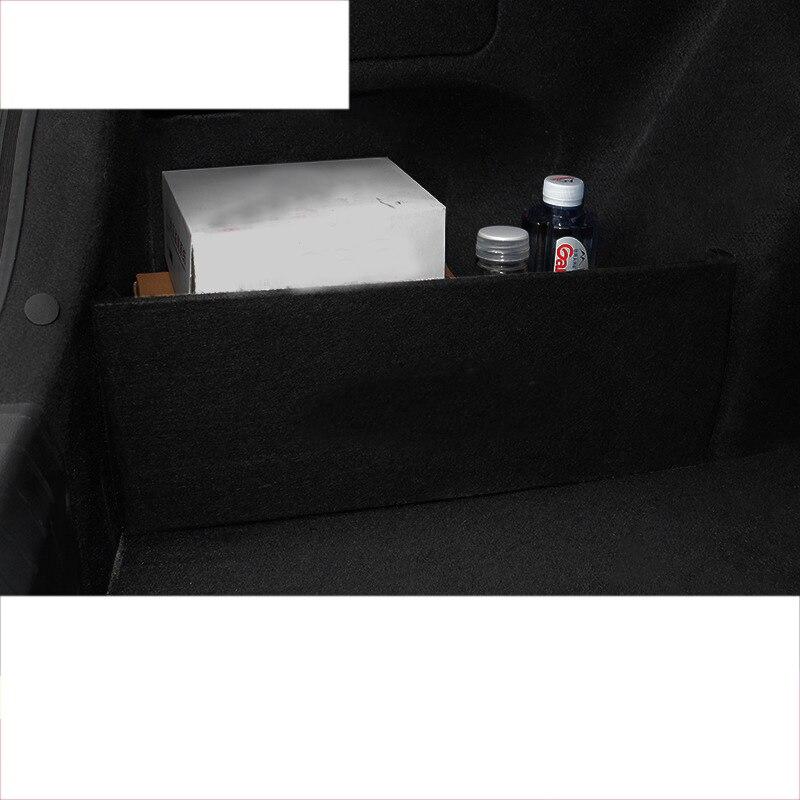 lsrtw2017 black suede car trunk storage plate for hyundai elantra 2016 2017 2018 2019 2020