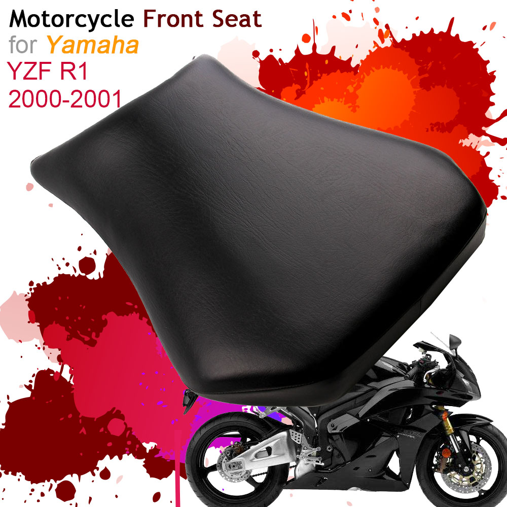For Yamaha YZF R1 2000 2001 Front Seat Cover Cushion Leather Pillow YZF R1 00 01 Motorcycle Rider Driver Seat