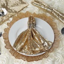 20*20 gold sequin table napkins/wedding napkins/linen napkins /cloth napkin 100 pcs/lot
