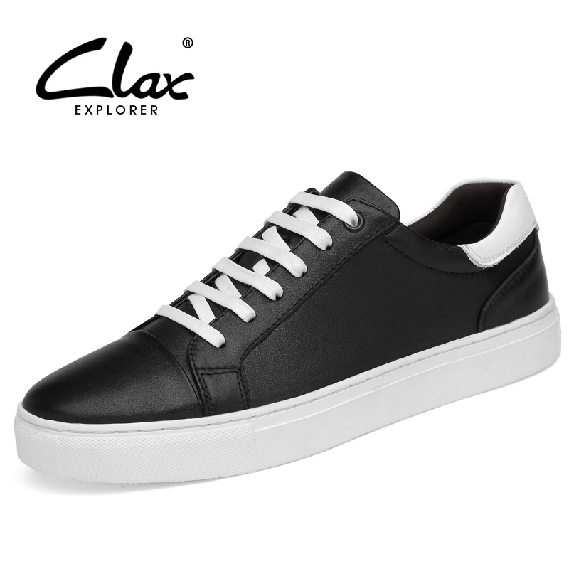 CLAX Men Casual Shoes 2018 Spring Summer Genuine Leather Male Fashion Shoe British Style Leisure Footwear Soft Leather Flats the spring and summer men casual shoes men leather lace shoes soled breathable sneaker lightweight british black shoes men