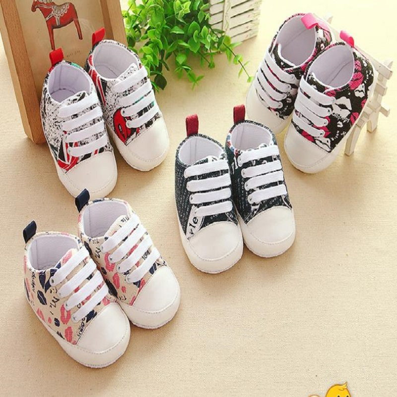 NICBUY 4 COLOR3027 Newborn Girl Boy Soft Sole Cute Crib Shoes Slipper 0 6 12 Months Skid-Proof Fashion Baby Shoe