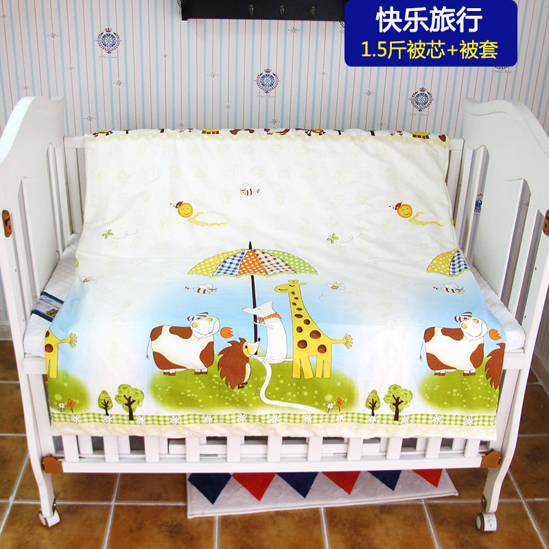 100*120cm Warm Baby Quilt with 750g Cotton Filling, 1PC Baby Cot Bed Linen Baby Blanket, Newborn Crib Bedding Detachable Quilt 8 layers baby muslin cotton blanket & swaddling bedding thick warm newborn wrap autumn &winter children bedding quilt 120 120cm