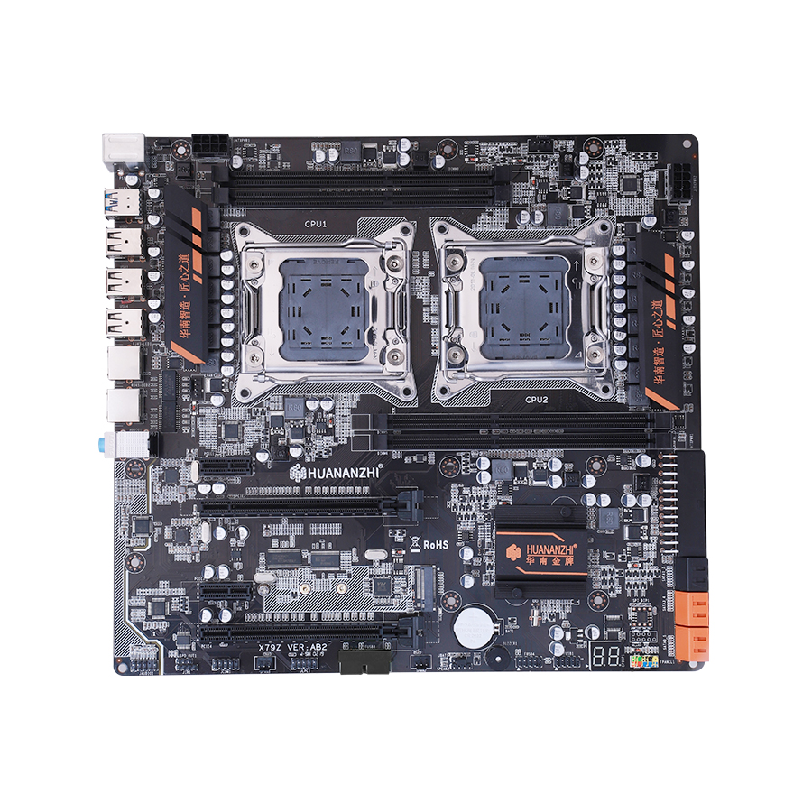 Image 2 - HUANANZHI X79 dual CPU motherboard LGA 2011 E ATX USB3.0 SATA3 PCI E  NVME with dual Xeon processor-in Motherboards from Computer & Office