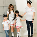 2017 family matching clothes mother father baby clothing mother daughter dresses father son outfits t-shirts family look