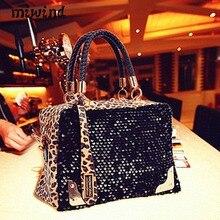 Miwind женщины сумка женская мода Сумки кожа Leopard блестки пакет женщин посыльного Сумки конверт вечерние сумочка