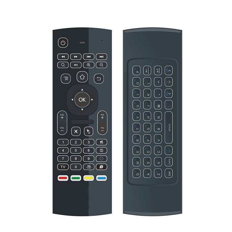 MX3-L Backlit Air Mouse T3 Smart Remote Control 2.4G RF Wireless Keyboard For X96 tx3 mini A95X H96 pro Android TV Box