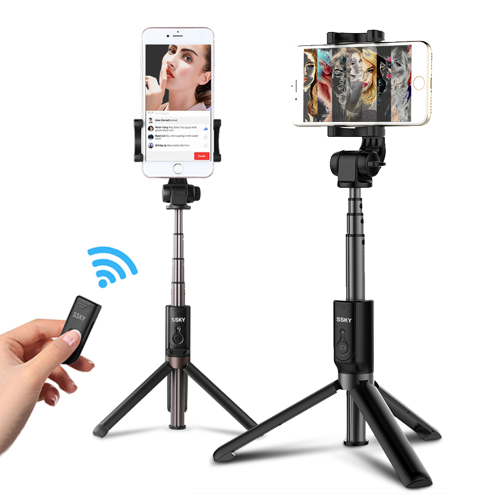 Ulanzi 3 in 1 Cell Phone Self Stick Tripod Monopod Phone Selfie Stick Bluetooth Remote Stand Stick For iPhone X Samsung Xiaomi Сотовый телефон