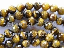 5 струн/лот натуральный тигровый глаз 8 мм круглый гранёный камень свободные бусины 40 см/прядь