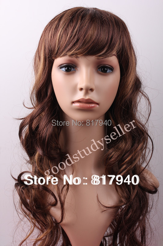 HOT SALG! High Quality Realistisk Plast Kvinne Mannequin Dummy Head With Hair For Hat & Sunglass & SmykkerMaskask Display