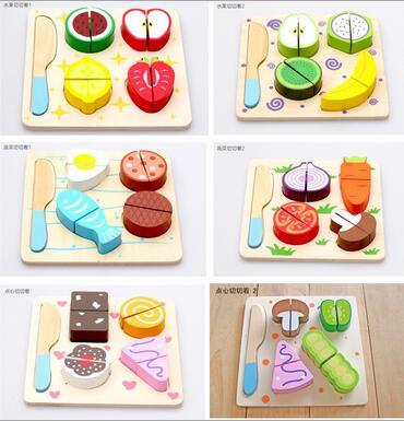 Kitchen toys, wooden vegetables and fruits, pretending to play with toys, fun toys for girls free delivery