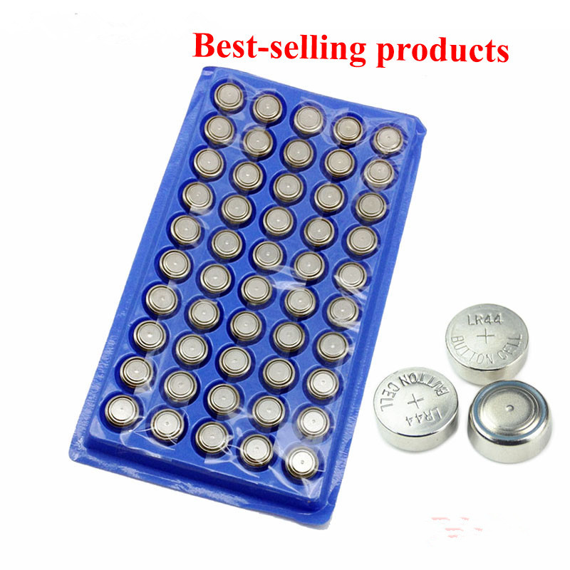 50Pcs AG13 High Volume Button Cell Battery 303 LR44 357A A76 SR44SW SP76 RW82 RW42 L1154 Long Lasting Watch Toys Free Shipping
